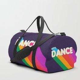RAINBOW DANCE TYPOGRAPHY- let's dance Duffle Bag