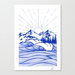 Blue vibes I Canvas Print