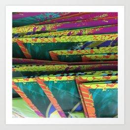 Color Shelves. Fashion Textures Art Print
