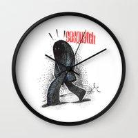 sasquatch Wall Clocks featuring Sasquatch by Srg44