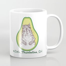 Little Thumbelina Girl: avocado Coffee Mug