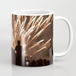 People enjoying fireworks show Coffee Mug