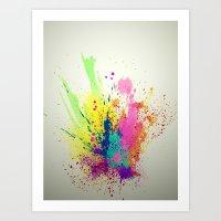 splatter Art Prints featuring Splatter by smARTwork Designs