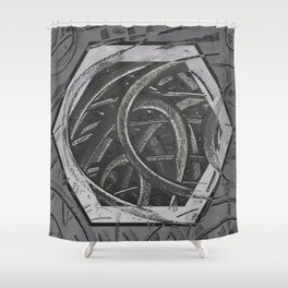 Junction - hexagon graphic Shower Curtain