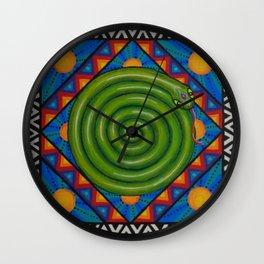 Serpent Wisdom Mandala, by Soozie Wray Wall Clock
