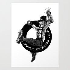 The Public Drinkers Club Art Print