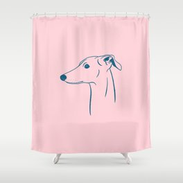 Italian Greyhound (Pink and Blue) Shower Curtain