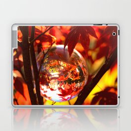 Red autumn foliage in the world of a globe Laptop & iPad Skin