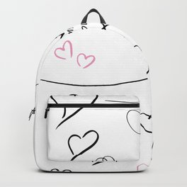 Hand drawing of hearts Backpack