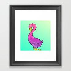 Summer Flamingo Framed Art Print