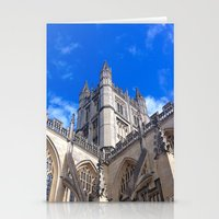 downton abbey Stationery Cards featuring Bath Abbey by Casey J. Newman