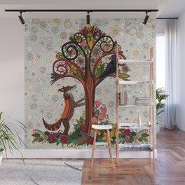 fox and crow Wall Mural
