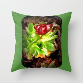 Surreal Succulent Throw Pillow