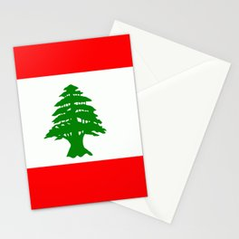 Flag of Lebanon Stationery Cards