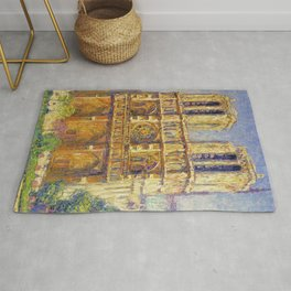 Paris, Notre Dame Cathedral, the Effect of Sunlight, French landscape by Francis Picabia Rug