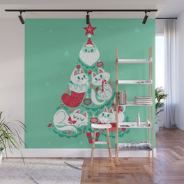 A Very Purry Christmas Wall Mural