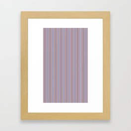 Lavender Stripes Framed Art Print