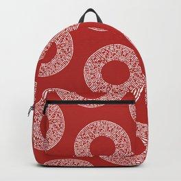 Big Red Dot Polka Dots Backpack