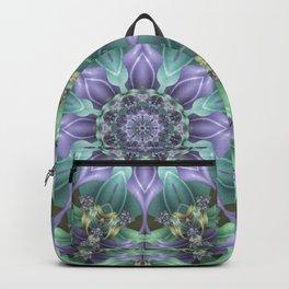 Ribbon Mandala in Blue and Purple Backpack