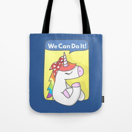Unicorn Girl Power Tote Bag