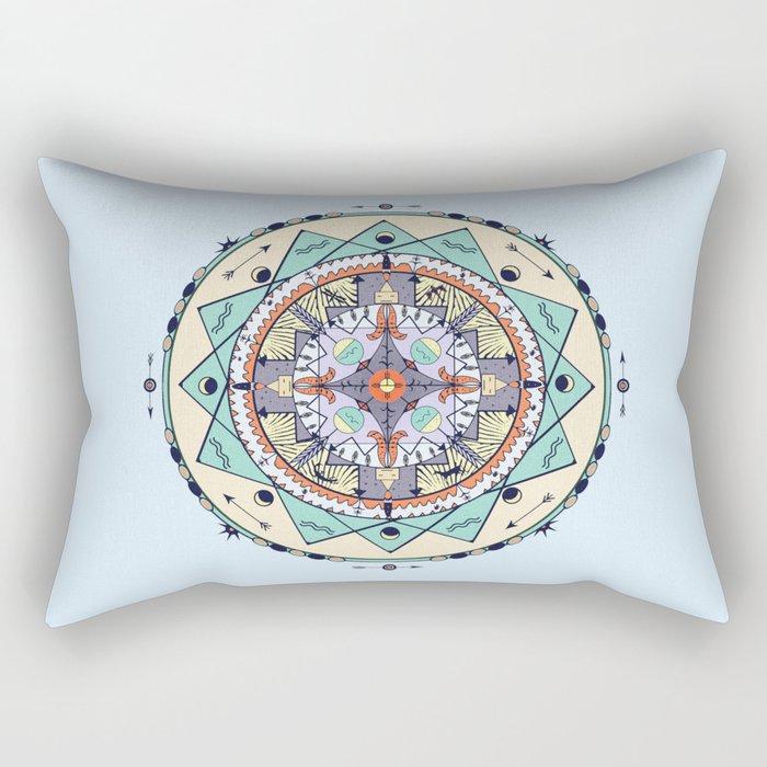 Time and Light Native Shapes Mandala Rectangular Pillow