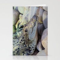 crocodile Stationery Cards featuring Crocodile by PICSL8