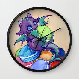 Macaron hoarder Wall Clock