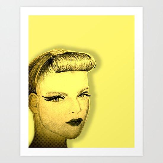 fake blonde Art Print