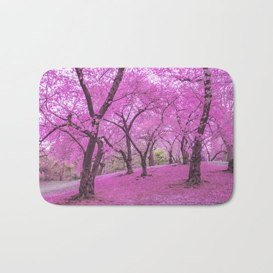 New York City Springtime Cherry Blossoms Bath Mat