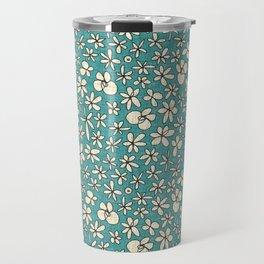 garland flowers blue Travel Mug