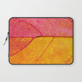 Nature Abstract: Cells and Veins of a Colorful Close up Autumn Leaf Laptop Sleeve