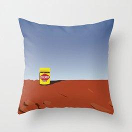outback vegemite Throw Pillow