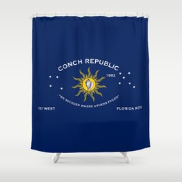 Conch Republic Flag Shower Curtain