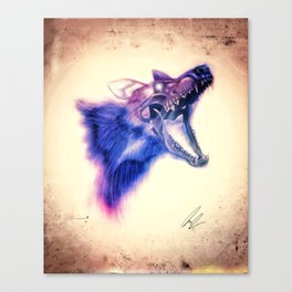 Frankenstein Wolf Canvas Print