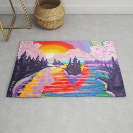80's SUNDOWN Rug