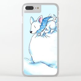 A Fluffball on a Snowball Clear iPhone Case