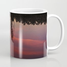 3 Trees Reflections at sunset Coffee Mug
