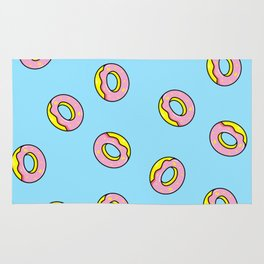Donuts Blue Rug