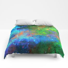 Speed Of Light - Abstract space painting Comforters
