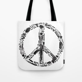 Find Peace (White) Tote Bag