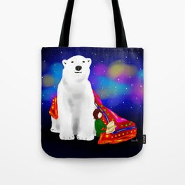 Fary tale White Bear Tote Bag