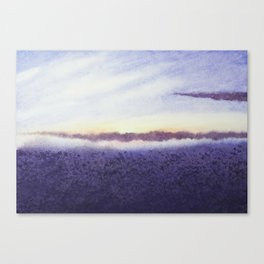 Sunrise # 1 / Watercolor Painting Canvas Print
