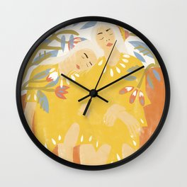 Botanical Girls Wall Clock