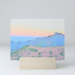 Twilight in Griffith Park Mini Art Print