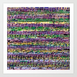Beethoven Op 29 - Rainbow Music Collage Art Print