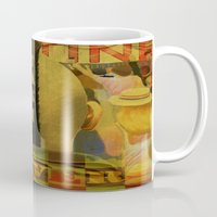 taxi driver Mugs featuring Taxi Driver by David Amblard