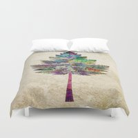 autumn Duvet Covers featuring Like a Tree 2. version by Klara Acel