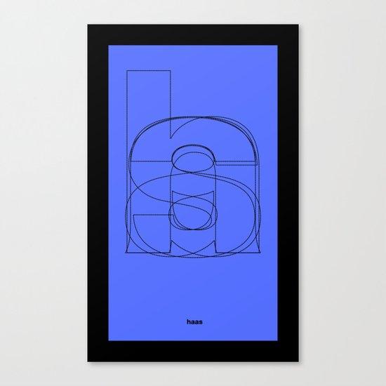 Die Neue Haas Grotesk (C-02) Canvas Print