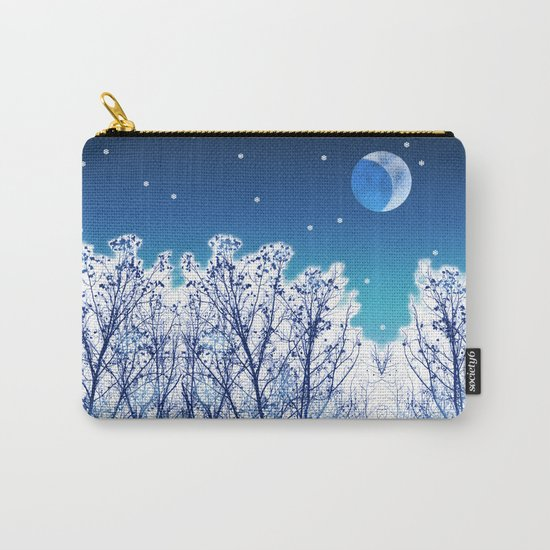 White Woods Snow Carry-All Pouch