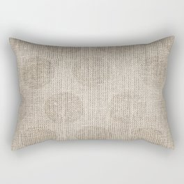 Poka dot burlap (Hessian series 2 of 3) Rectangular Pillow